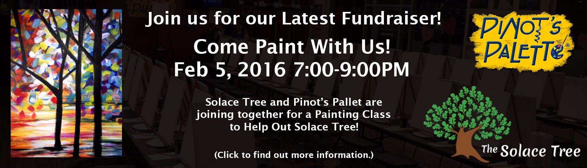 Pinot's Palette - Fundraiser for Solace Tree